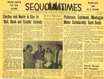 Sequoia Times October 16 1959. Classmate Pat Barret Dragan was editor of the Sequoia Times in our senior year and Sequoi