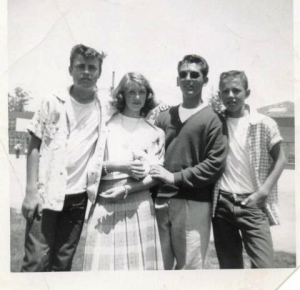 Craig Fraser, Linda McAbee, Dennis Querantes and Gary Trantow in June 1956- five months before Elvis Presley's movie '